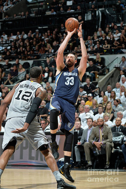 Playoffs Art Print featuring the photograph Marc Gasol by Mark Sobhani