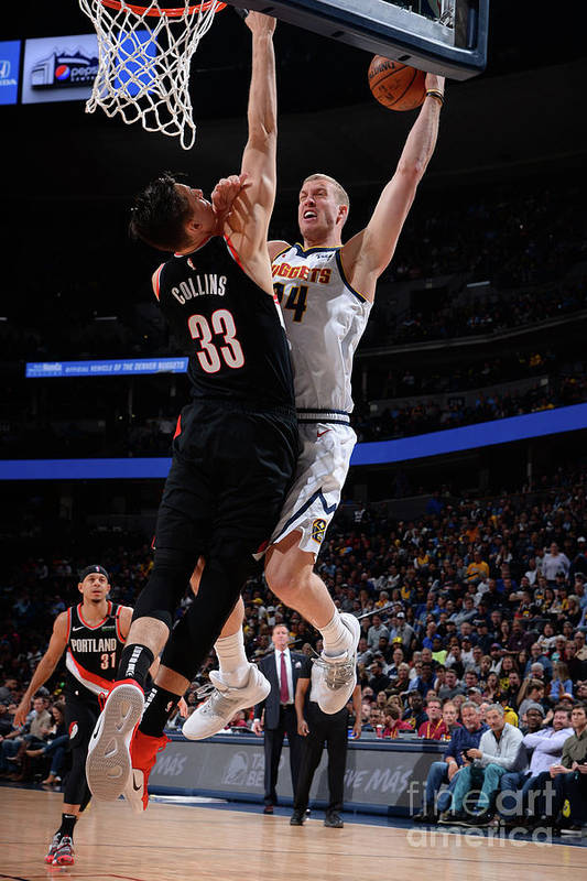 Playoffs Art Print featuring the photograph Mason Plumlee by Bart Young