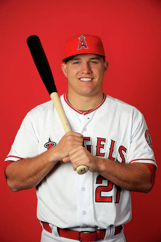 Mike Trout Art Print featuring the photograph Mike Trout by Jamie Squire