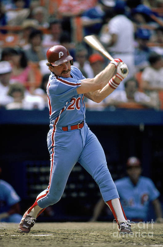 Mike Schmidt Art Print featuring the photograph Mike York by Mlb Photos