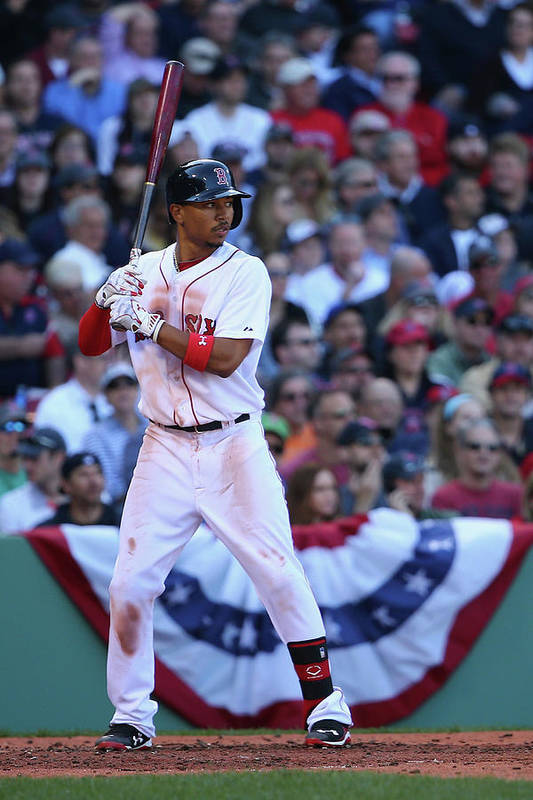 People Art Print featuring the photograph Mookie Betts by Maddie Meyer