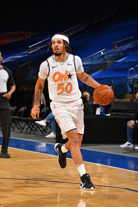 Nba Pro Basketball Art Print featuring the photograph Orlando Magic v New York Knicks by Jesse D. Garrabrant