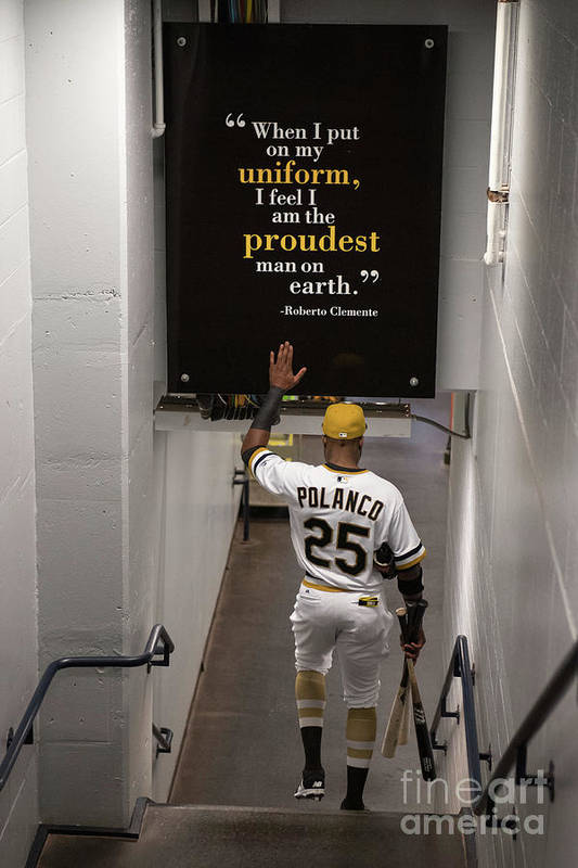 People Art Print featuring the photograph Roberto Clemente and Gregory Polanco by Justin Berl