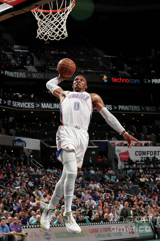 Nba Pro Basketball Art Print featuring the photograph Russell Westbrook by Kent Smith