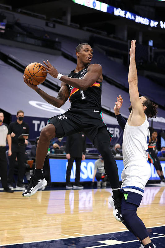 Nba Pro Basketball Art Print featuring the photograph San Antonio Spurs v Minnesota Timberwolves by Jordan Johnson