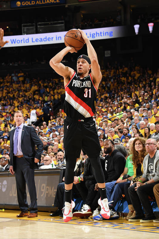 Playoffs Art Print featuring the photograph Seth Curry by Andrew D. Bernstein