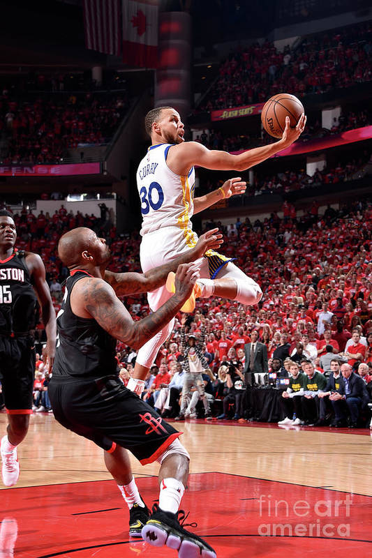 Playoffs Art Print featuring the photograph Stephen Curry by Bill Baptist