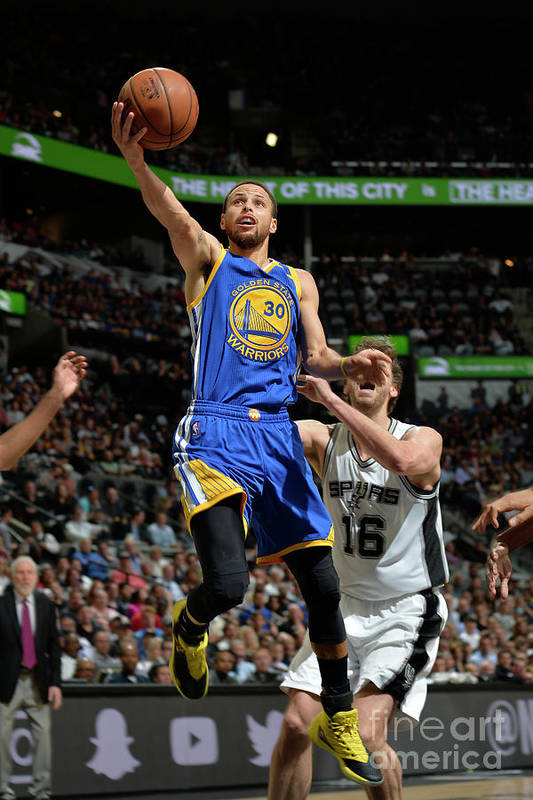 Nba Pro Basketball Art Print featuring the photograph Stephen Curry by Mark Sobhani