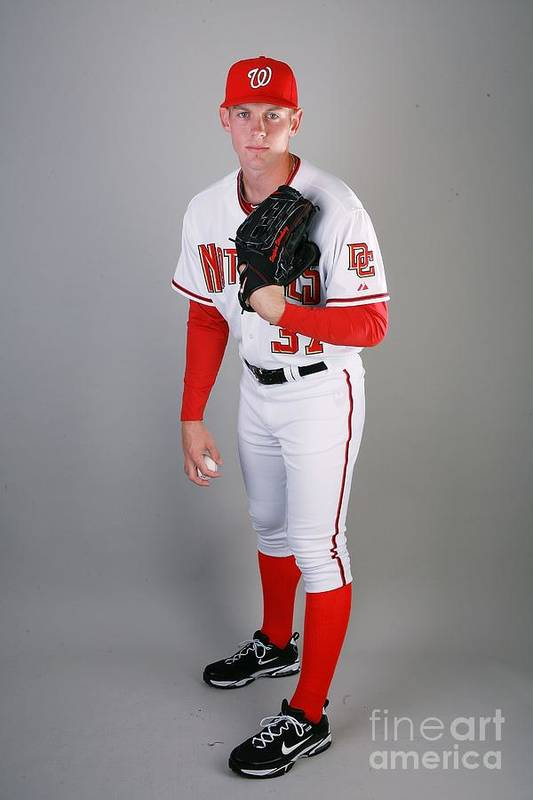 Media Day Art Print featuring the photograph Stephen Strasburg by Doug Benc