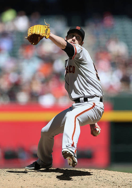 Tim Lincecum Art Print featuring the photograph Tim Lincecum by Christian Petersen