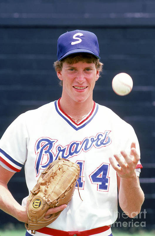 1980-1989 Art Print featuring the photograph Tom Glavine by Rich Pilling