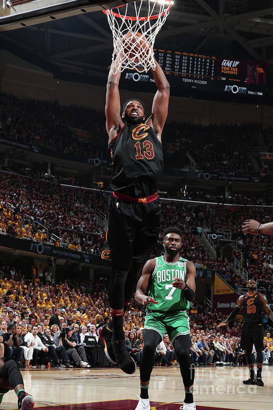 Playoffs Art Print featuring the photograph Tristan Thompson by Nathaniel S. Butler