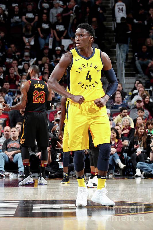 Playoffs Art Print featuring the photograph Victor Oladipo by Nathaniel S. Butler
