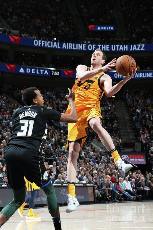 Nba Pro Basketball Art Print featuring the photograph Joe Ingles by Melissa Majchrzak