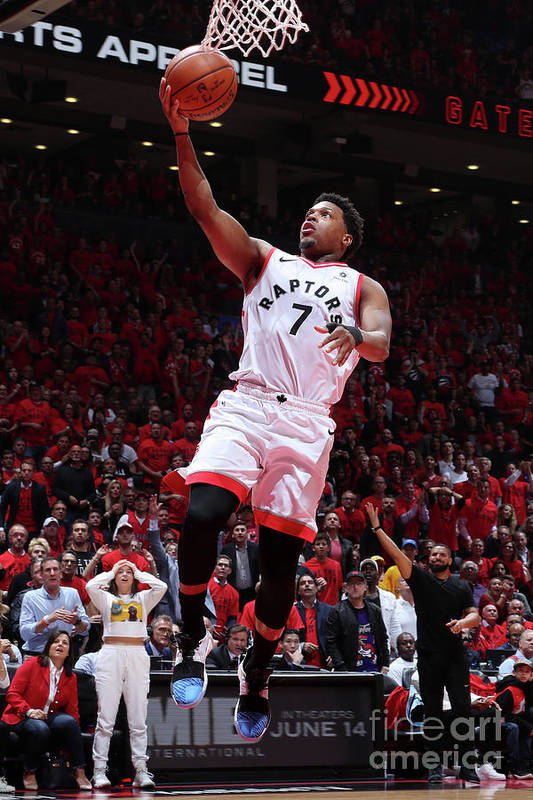 Playoffs Art Print featuring the photograph Kyle Lowry by Nathaniel S. Butler