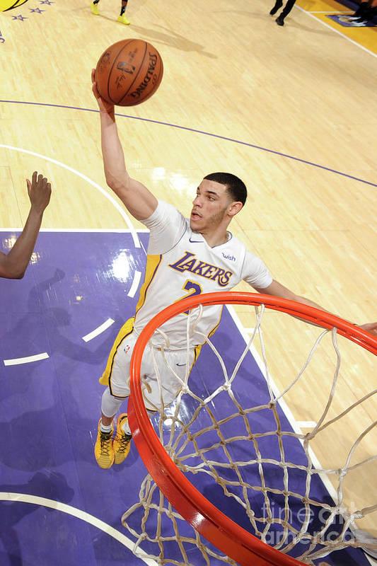 Nba Pro Basketball Art Print featuring the photograph Lonzo Ball by Andrew D. Bernstein