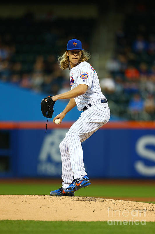 Second Inning Art Print featuring the photograph Noah Syndergaard by Mike Stobe