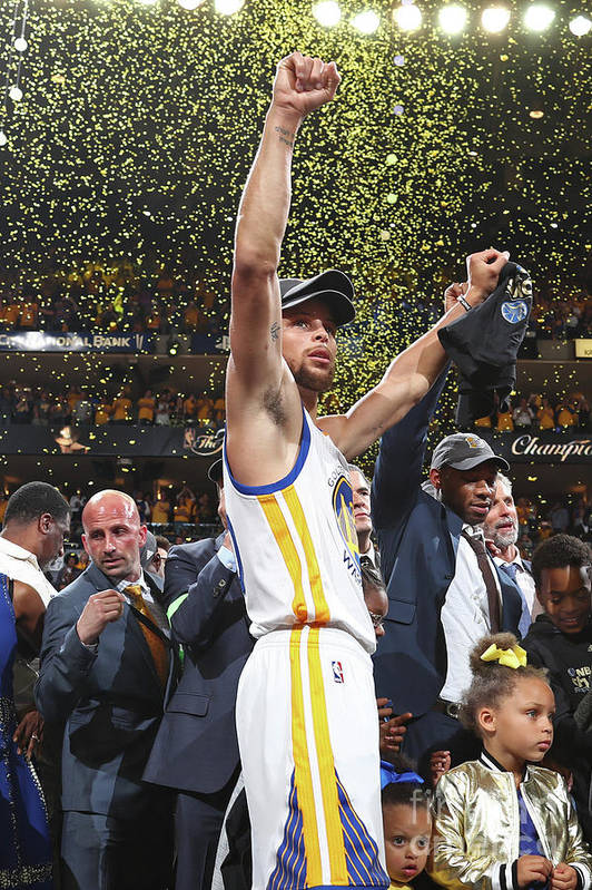 Playoffs Art Print featuring the photograph Stephen Curry by Nathaniel S. Butler