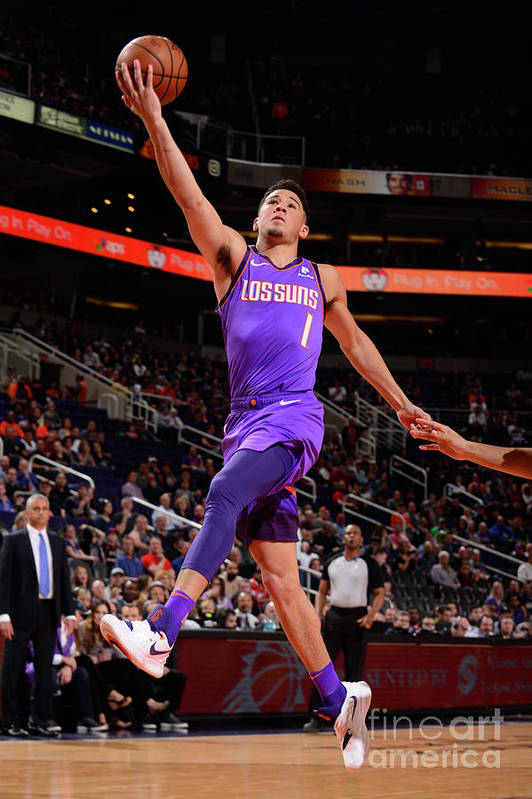 Nba Pro Basketball Art Print featuring the photograph Devin Booker by Barry Gossage