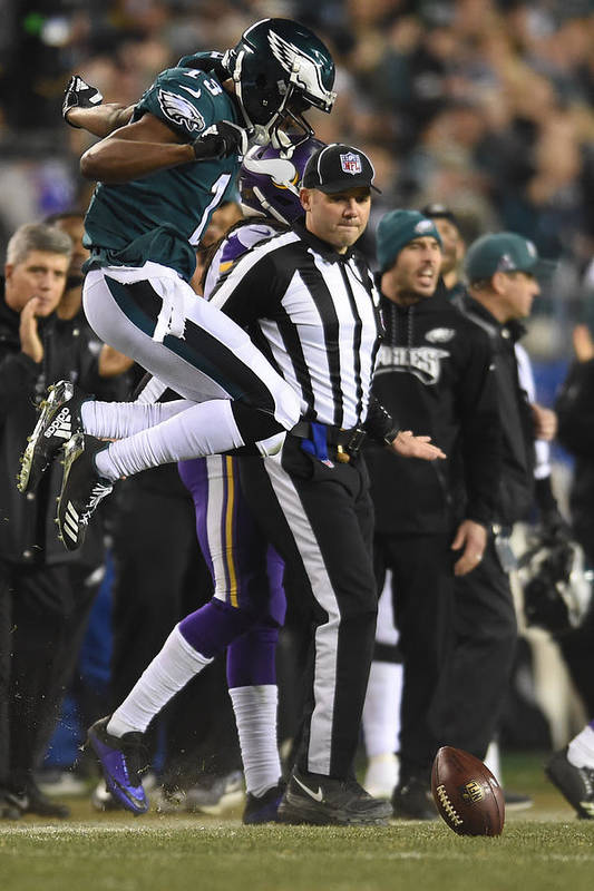 Playoffs Art Print featuring the photograph NFL: JAN 21 NFC Championship Game - Vikings at Eagles by Icon Sportswire