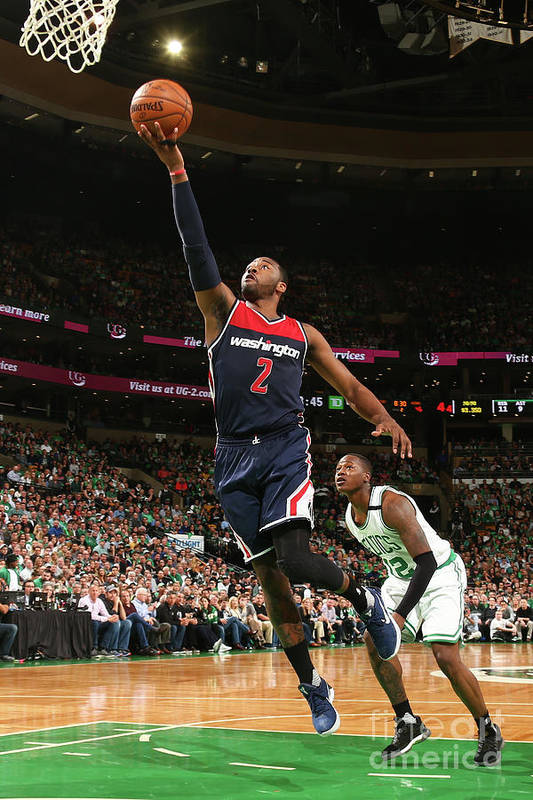 Playoffs Art Print featuring the photograph John Wall by Ned Dishman