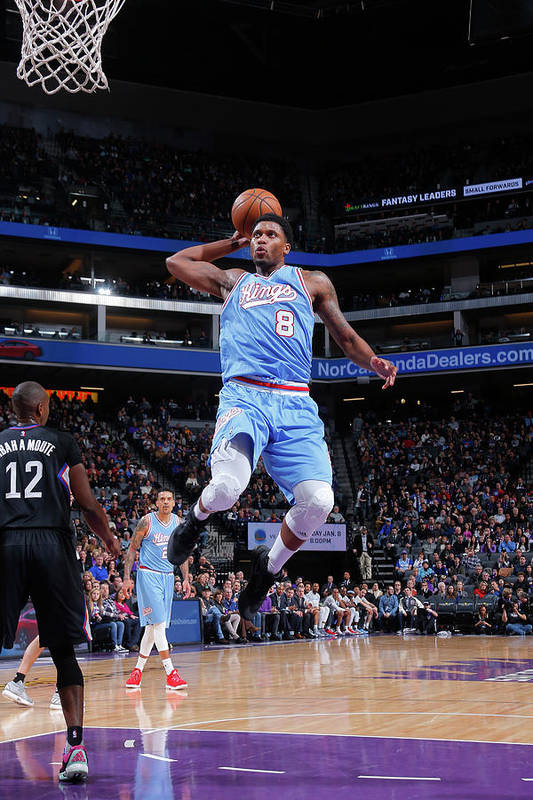 Nba Pro Basketball Art Print featuring the photograph Rudy Gay by Rocky Widner