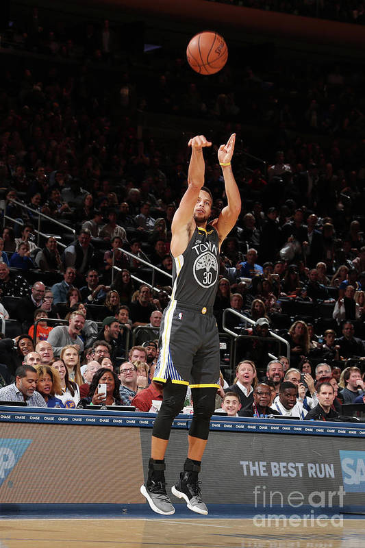 Nba Pro Basketball Art Print featuring the photograph Stephen Curry by Nathaniel S. Butler