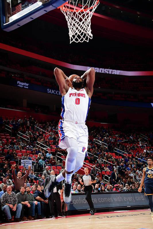 Nba Pro Basketball Art Print featuring the photograph Andre Drummond by Chris Schwegler