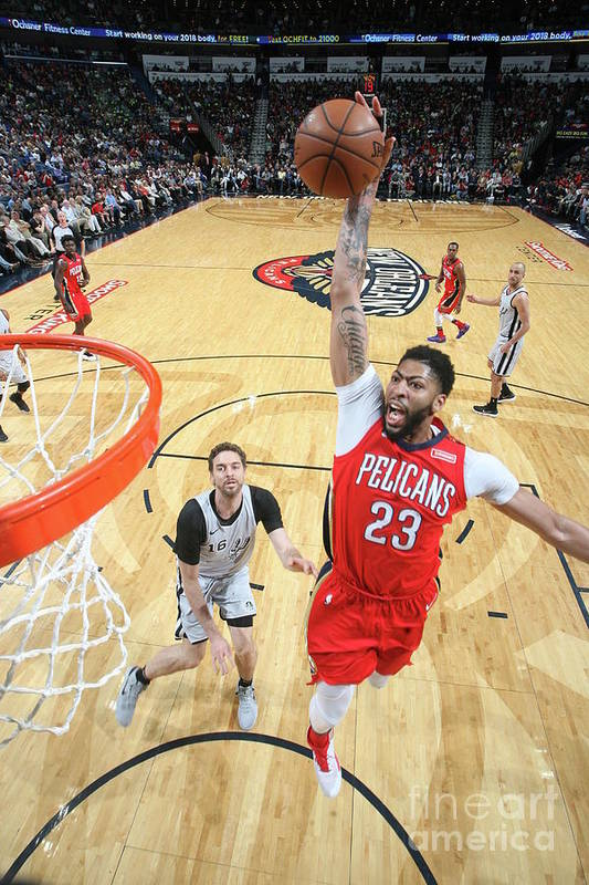 Smoothie King Center Art Print featuring the photograph Anthony Davis by Layne Murdoch Jr.