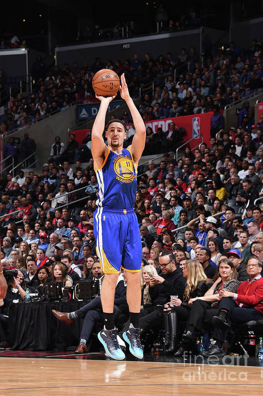Nba Pro Basketball Art Print featuring the photograph Klay Thompson by Andrew D. Bernstein