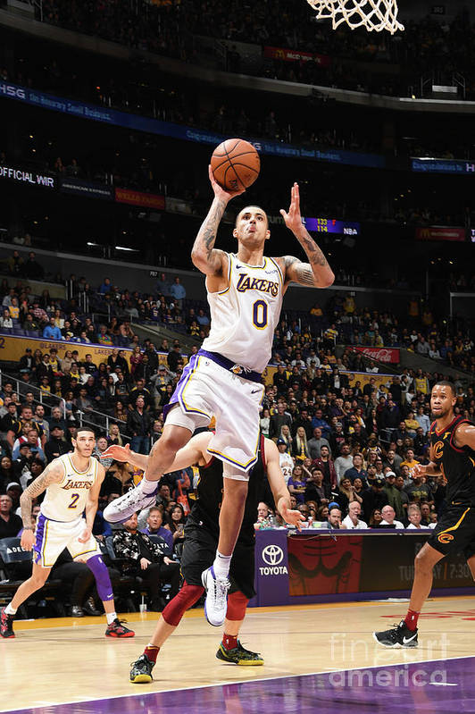 Nba Pro Basketball Art Print featuring the photograph Kyle Kuzma by Andrew D. Bernstein