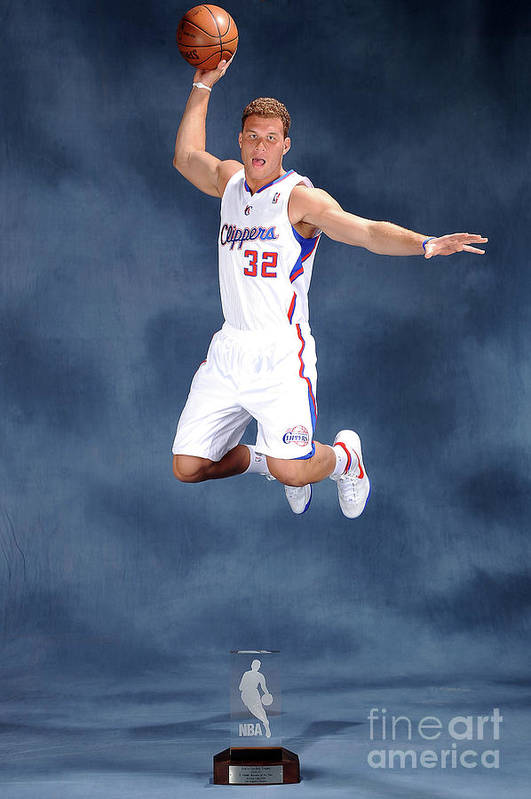 Nba Pro Basketball Art Print featuring the photograph Blake Griffin by Andrew D. Bernstein