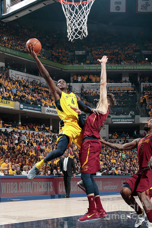 Playoffs Art Print featuring the photograph Victor Oladipo by Ron Hoskins