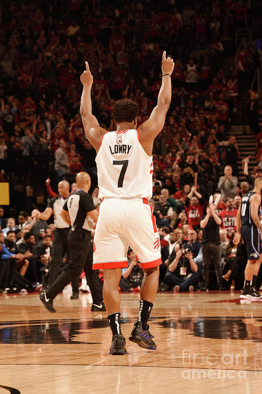 Playoffs Art Print featuring the photograph Kyle Lowry by Ron Turenne
