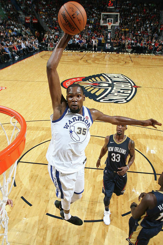 Smoothie King Center Art Print featuring the photograph Kevin Durant by Layne Murdoch