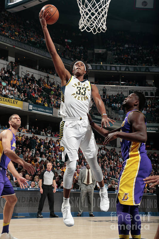 Sports Ball Art Print featuring the photograph Myles Turner by Ron Hoskins