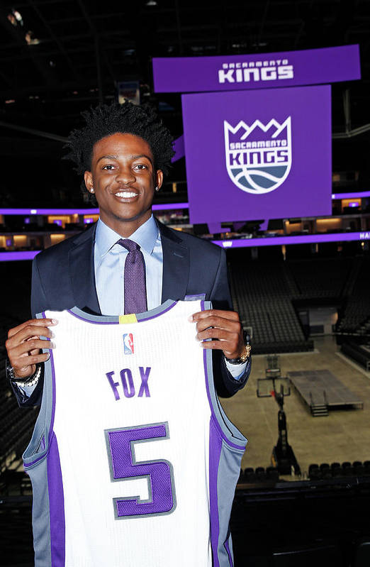 Nba Pro Basketball Art Print featuring the photograph De'aaron Fox by Rocky Widner
