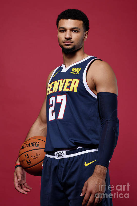 Media Day Art Print featuring the photograph Jamal Murray by Garrett Ellwood