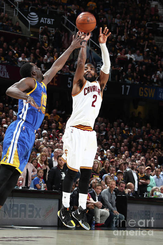 Playoffs Art Print featuring the photograph Kyrie Irving by Nathaniel S. Butler