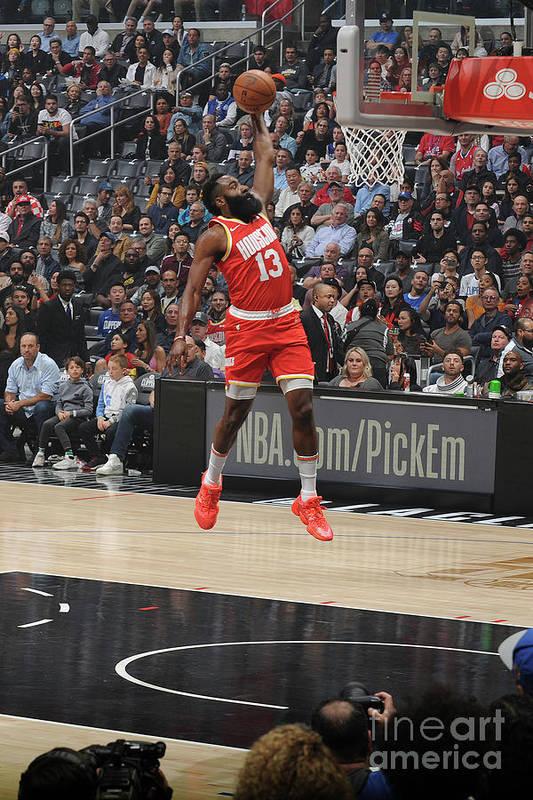 Nba Pro Basketball Art Print featuring the photograph James Harden by Andrew D. Bernstein