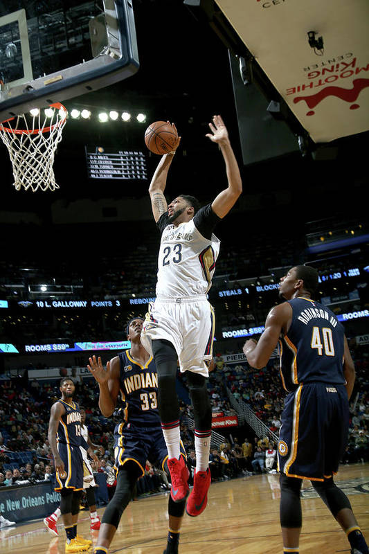 Smoothie King Center Art Print featuring the photograph Anthony Davis by Layne Murdoch