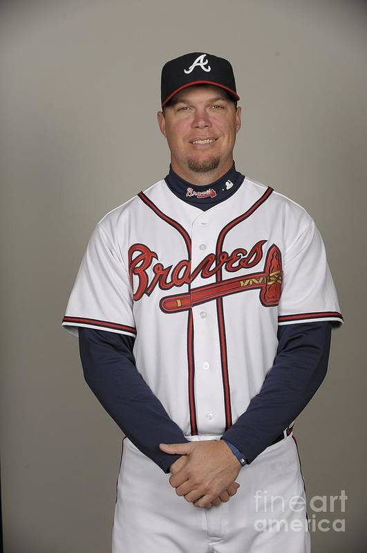 Media Day Art Print featuring the photograph Chipper Jones by Tony Firriolo