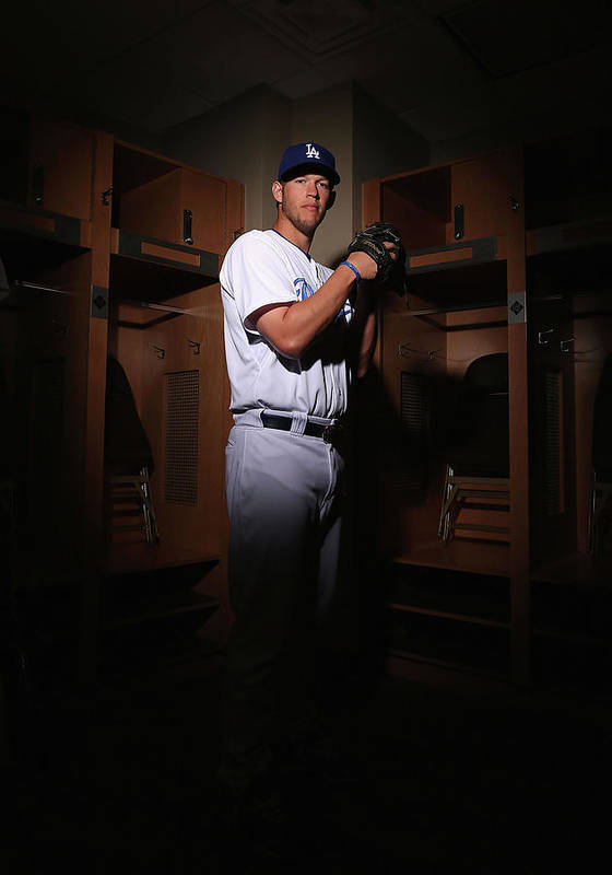 Media Day Art Print featuring the photograph Clayton Kershaw by Christian Petersen
