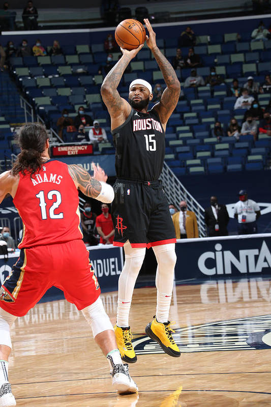 Smoothie King Center Art Print featuring the photograph Demarcus Cousins by Layne Murdoch Jr.