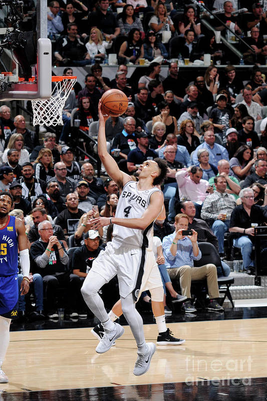 Playoffs Art Print featuring the photograph Derrick White by Mark Sobhani