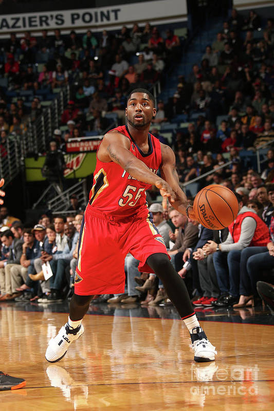 Smoothie King Center Art Print featuring the photograph E'twaun Moore by Layne Murdoch