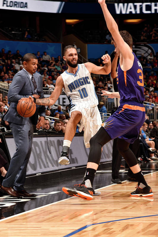Nba Pro Basketball Art Print featuring the photograph Evan Fournier by Gary Bassing