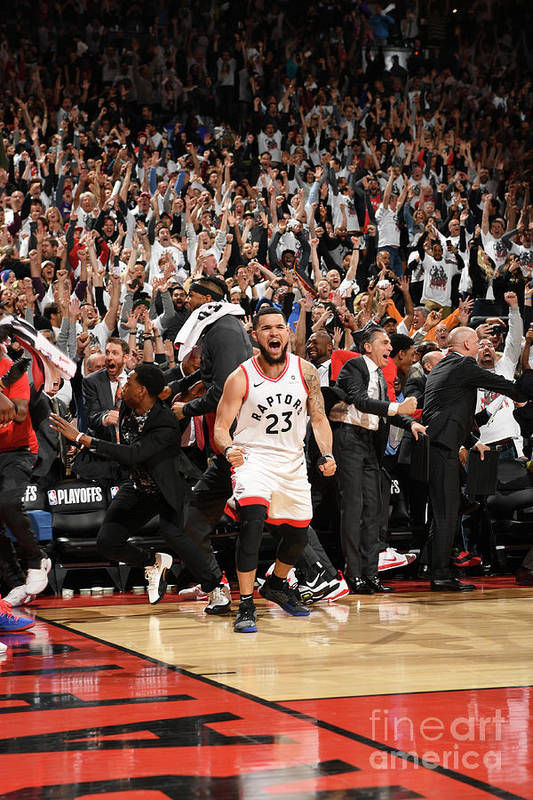 Playoffs Art Print featuring the photograph Fred Vanvleet by Ron Turenne