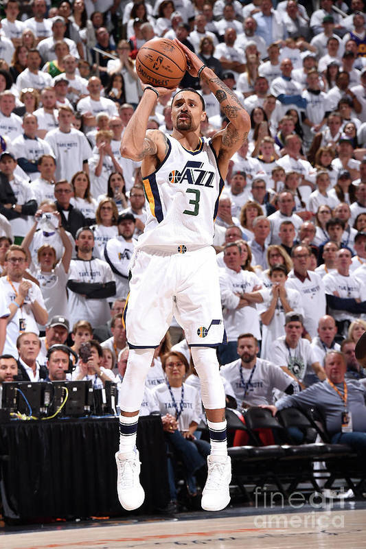 Playoffs Art Print featuring the photograph George Hill by Andrew D. Bernstein