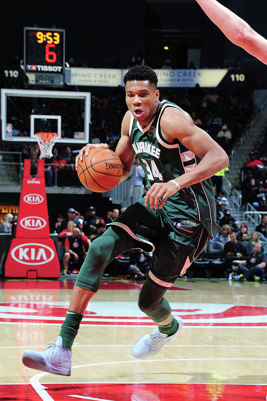 Sport Art Print featuring the photograph Giannis Antetokounmpo by Scott Cunningham